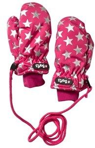 Barts Pink Mittens with Silver Star Print