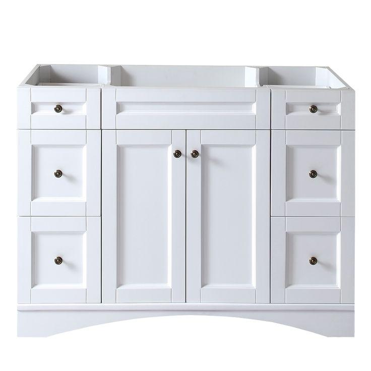 Virtu USA Elise 48-inch White Single-sink Cabinet Only Bathroom Vanity -  Overstock - 58 Best Bathroom Images On Pinterest