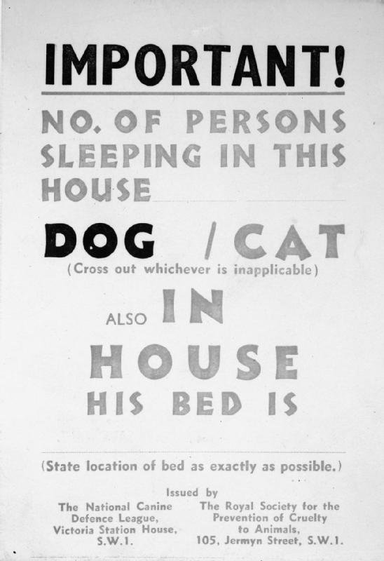 An air raid precautions leaflet giving details of the