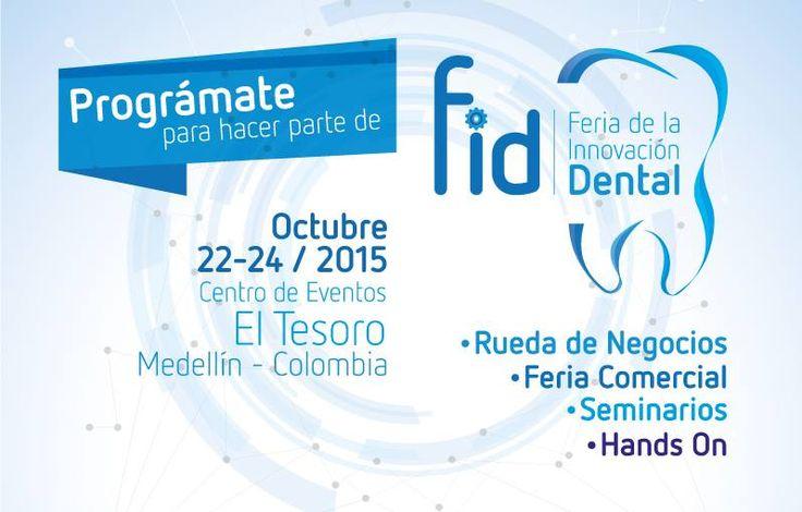 La FERIA DE LA INNOVACIÓN DENTAL (FID) busca reunir en un solo lugar a productores, importadores y comercializadores del sector de la salud Oral; y convertirse en la mejor plataforma de negocios en Colombia y de esta manera consolidarse como punto de intercambio comercial y de conocimiento http://www.fidcolombia.com/