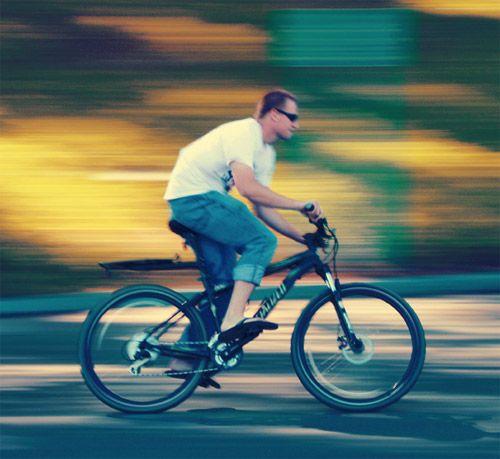 Panning#Manonabicycle