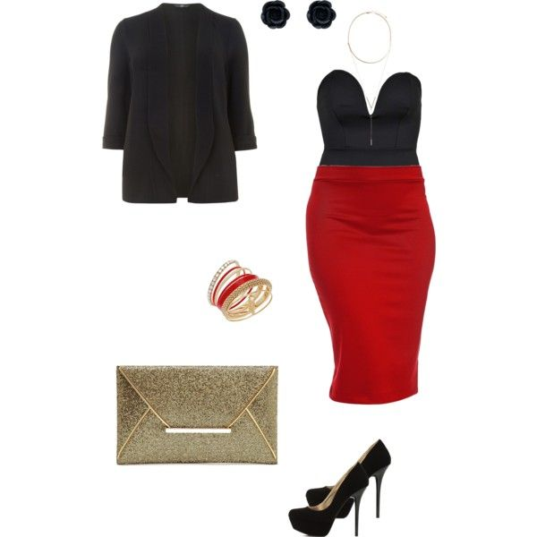 Nightout plus size by nadine-schokobon-bala on Polyvore featuring polyvore, fashion, style, Evans, Boohoo, Thalia Sodi and BCBGeneration
