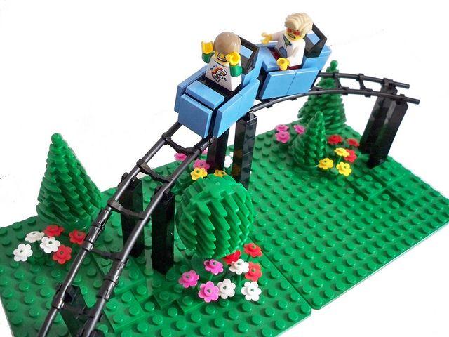 LEGO Roller Coaster by Tom Bricks, via Flickr