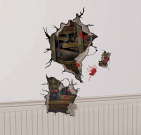 ENTRY LIBRARY $4.99 Haunted House Wall Decals 4ct - Party City