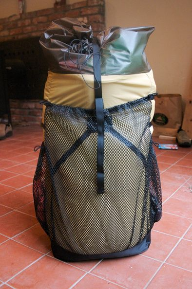 Lightweight backpack. I built it myself for a Ray Jardine ...