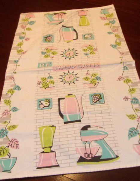 Vintage Mid Century Be Modern Dish Towel