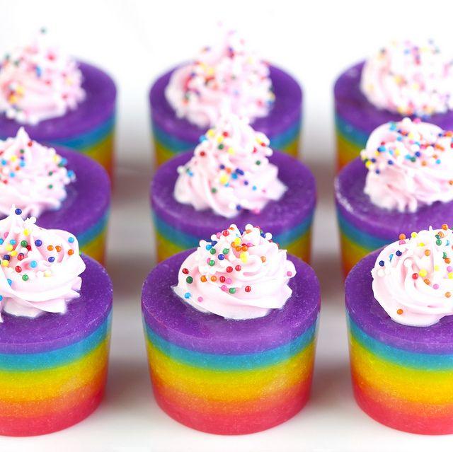 JelloFood Colors, Onds Milk, Cake Vodka, Jello Shots Recipe, Rainbow Cakes, Rainbows Cake, Flavored Vodka, Jelloshots, Jelly Shots