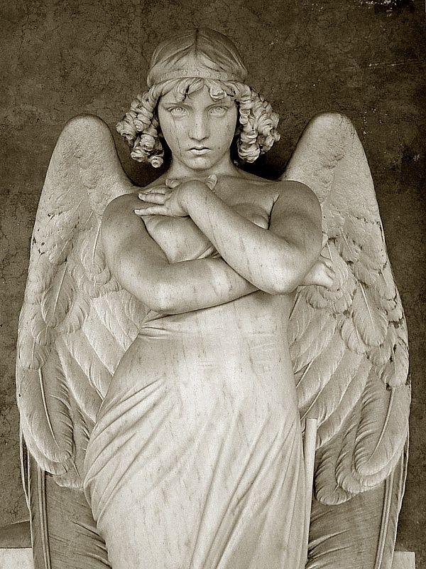 The Angel by Giulio Monteverde, Giulio Monteverde and family grave, Verano Monumental Cemetery, Rome, Italy