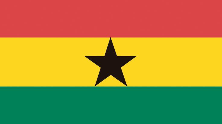 La bandera tricolor de Ghana