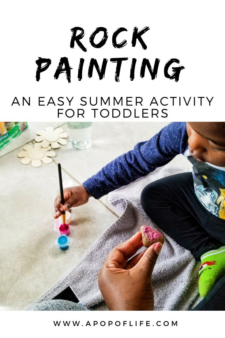 Easy Summer Activities For Toddlers Rock Painting