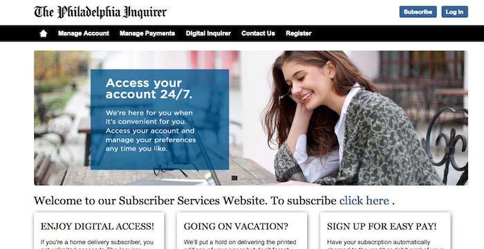 Philadelphia inquirer bill pay