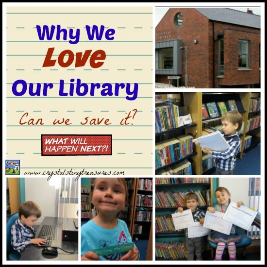 Why We Love Our Library.  Local libraries are an important part of a community. Don't let them close our library!