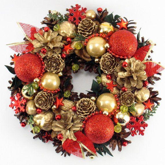 Christmas Wreath Traditional Wreath Handmade by ZielonePalce