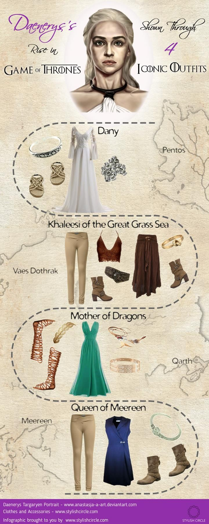 How to dress like Daenerys Targaryen #gameofthrones #daenerys