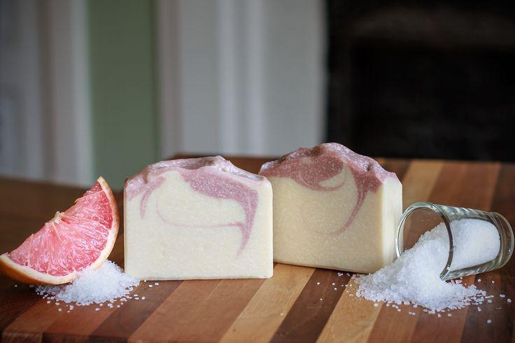 Homemade Salt Bar - Making & Cutting Salty Dog Spa Bar Soap - Cold Proce...