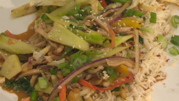 Get out your woks and get cookin! This maple butter pork stir fry takes just two minutes to cook. Click here for the complete recipe http://atlantic.ctvnews.ca/maple-butter-pork-stir-fry-1.1224322
