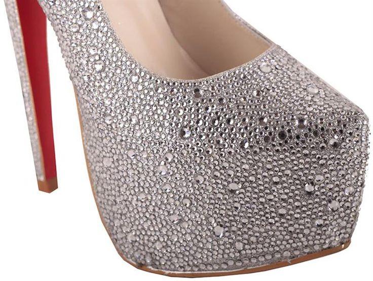 Туфли белые серебряные