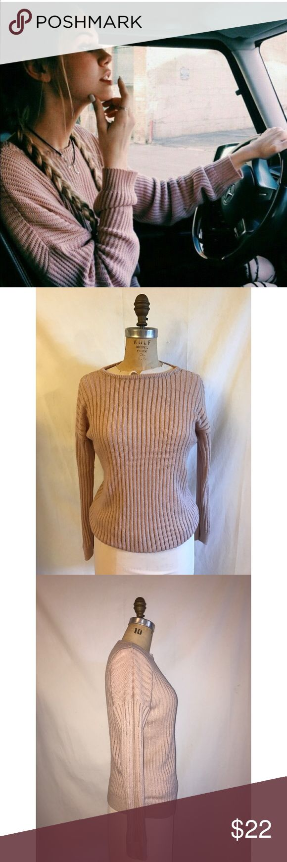 Brandy Melville sweater Blush pink brandy Melville sweater. Excellent condition. Should fit a small-medium even though it's a one size. Brandy Melville Sweaters