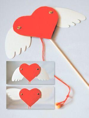 Валентинки своими руками - забавные игрушки-дергунчики