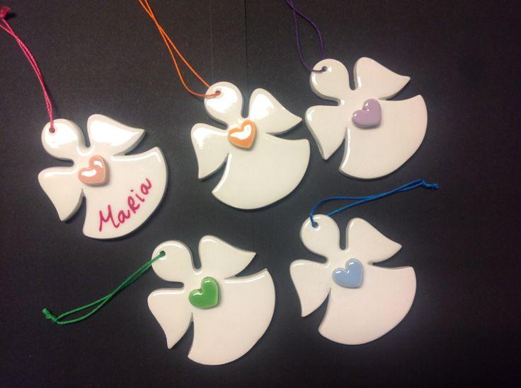 Angeli in ceramica personalizzabili #equosolidale #bomboniere #perlaluna #cooperazionesociale