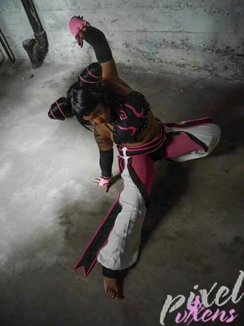 "Juri Han from Street Fighter 4 Check out the set ""Feng Shui"" on Pixel-Vixens.com.  Http://facebook.com/blackcatofficialpage  Twitter: @Blkcat514 #BlackCat #pixelvixen #JuriHan #cosplay #woc #StreetFighter #capcom #blackcosplayer"