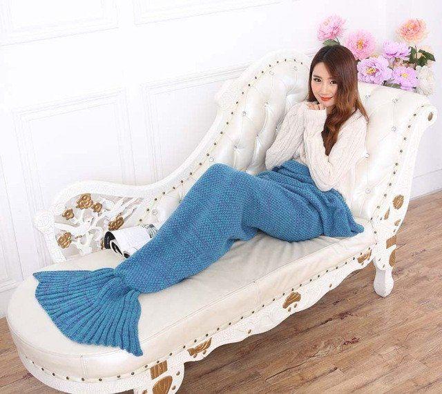 Mermaid Tail Blanket for Adult/Kids/Baby