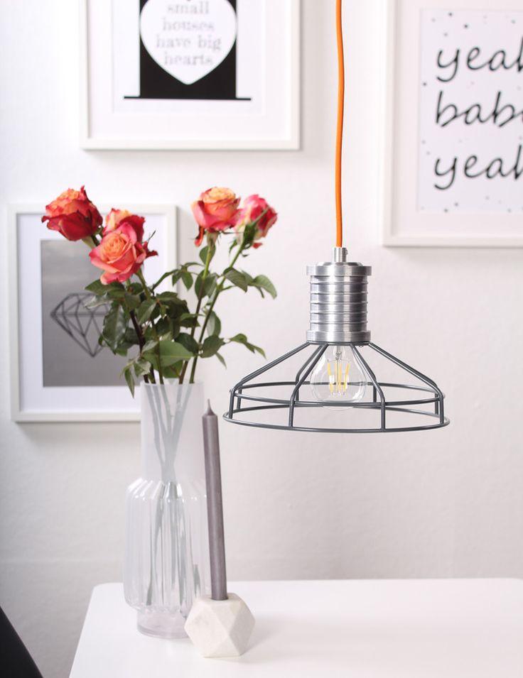 anne lighting wire o grijs 23 cm directlampen design. Black Bedroom Furniture Sets. Home Design Ideas