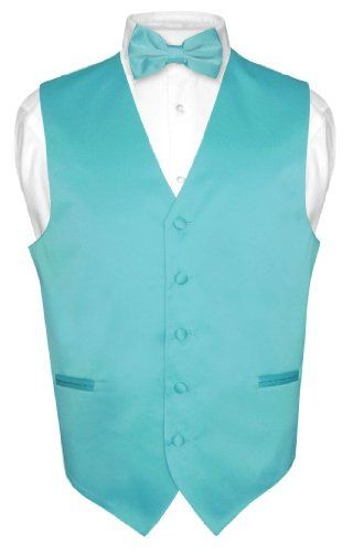Men's Dress Vest BOWTie TURQUOISE AQUA BLUE Bow Tie Set for Suit or Tuxedo - http://www.rainbowclothingstore.org/mens-dress-vest-bowtie-turquoise-aqua-blue-bow-tie-set-for-suit-or-tuxedo/