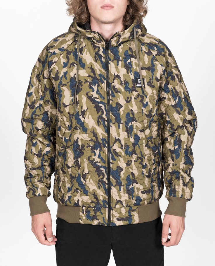 R-Collection Quilted hoodie