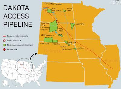 Dakota Access Pipeline map #SDSLCornerstone