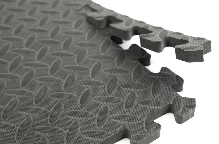 "5/8"" Diamond Soft Tiles - Tread Plate Interlocking Foam Tiles"