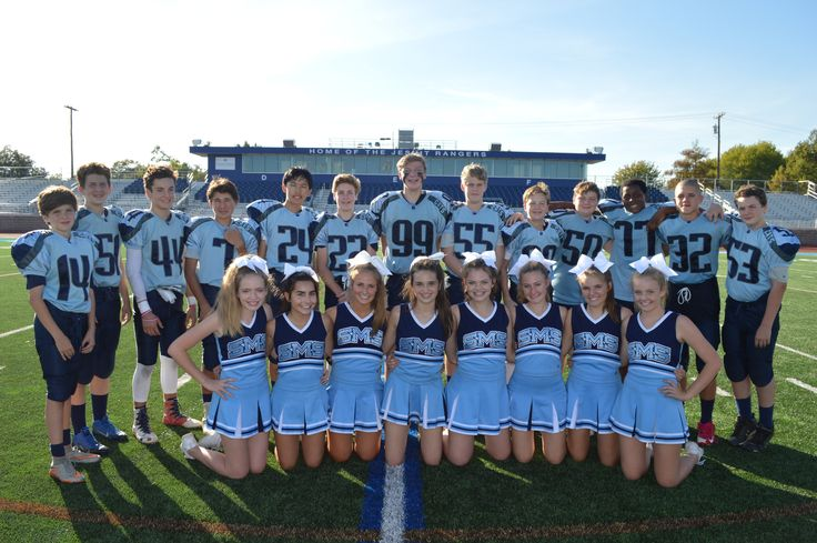 Last day of football and cheer for our 8th graders - we wish you Bearcats the best at your new school - St. Monica Catholic School