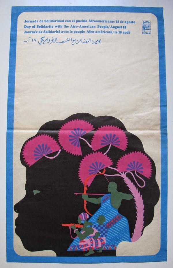 Dia de Solidariedade com os afro-americanos, Daysi Garcia, Cuba, 1968.
