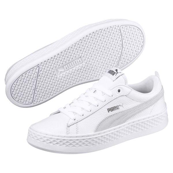 PUMA Smash Platform Leather Women's Sneakers, White, 6 ...