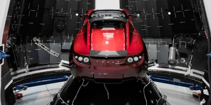 The SpaceX CEO has posted up images of his Tesla Roadster mounted inside the rocket's nose cone. https://www.usatoday.com/story/tech/nation-now/2017/12/27/spacex-red-tesla-roadster-bound-mars/983669001/