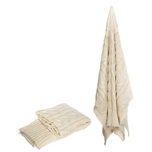 Florence de Dampierre by AB Home Cream Polyester Throw