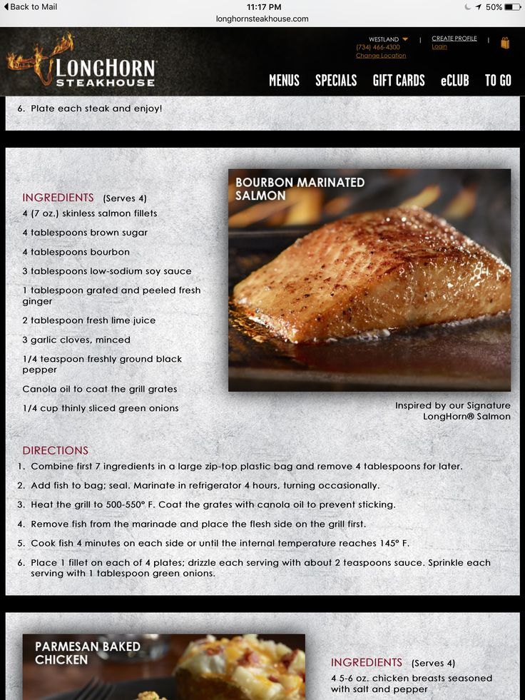 Longhorn bourbon marinated salmon