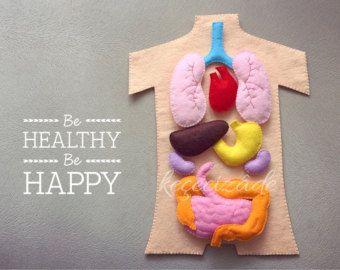 Educational Felt Human Anatomy/ Parts of by LupitasLovelyCrafts