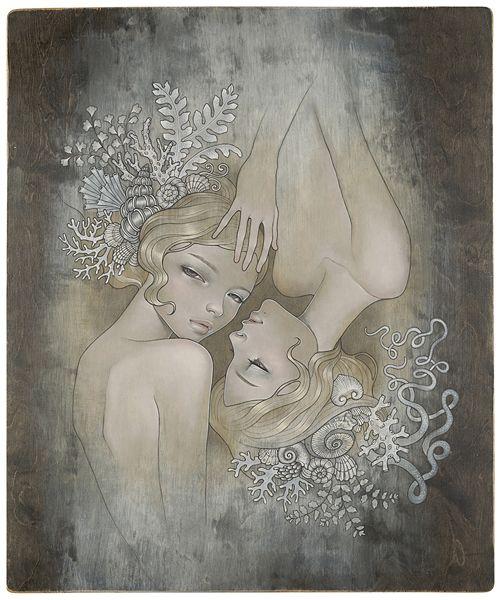 Two Sisters by Audrey Kawasaki