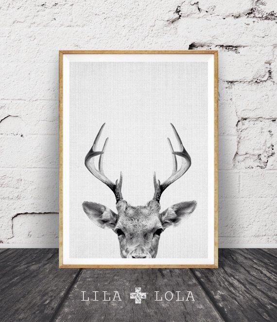 Deer Print, Deer Antlers, Woodlands Decor, Wilderness Wall Art, Nursery Black and White, Animal Print, Printable Art, Deer Head Download by LILAxLOLA on Etsy https://www.etsy.com/listing/246994842/deer-print-deer-antlers-woodlands-decor