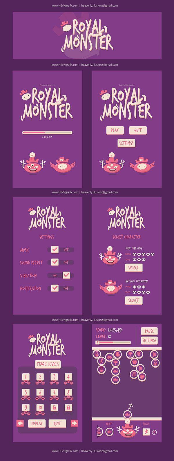 Royal Monster - Game Design on Behance