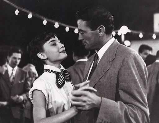 Audrey Hepburn and Gregory Peck Roman Holiday (1953) - such a great film :)