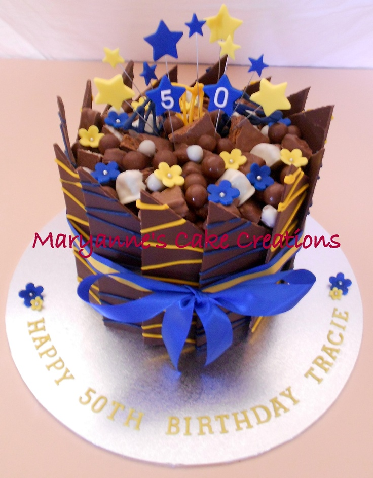 Chocolate Panel Cake - Milk Chocolate - Parramatta Eels Birthday Cake