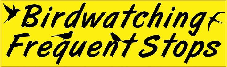 10x3 Birdwatching Frequent Stops Car Bumper Sticker Window Decal Stickers Decals