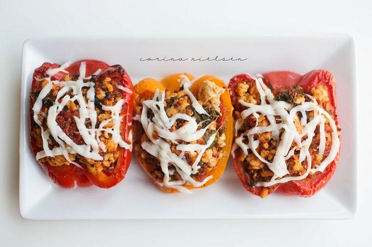 Eating Clean: Turkey & Quinoa Stuffed Peppers (includes marinara sauce recipe) f