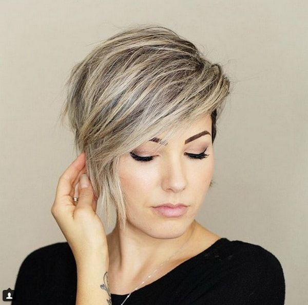 #13. Asymmetrical Straight Black Bob Hairstyle #14. Asymmetrical Short Blonde Bob Hair with Tousled Ends #15. Short Choppy Black Hair with Fringe