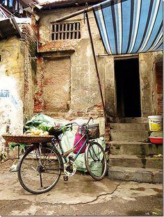 A random back street in Hanoi, Old Quarter in Vietnam! Read more on wanderluststorytellers.com.au