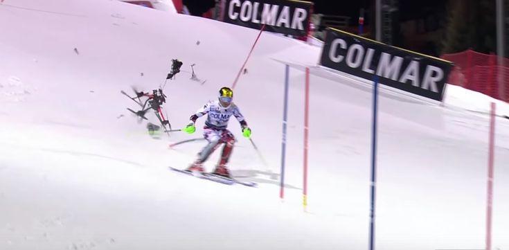 Un skieur échappe de peu à la chute d'un drone en plein direct - http://www.frandroid.com/produits-android/drones/331397_un-skieur-echappe-de-peu-a-la-chute-dun-drone-en-plein-direct  #Drones