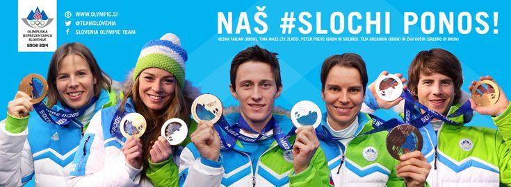 Les médailles slovènes à #Sotchi