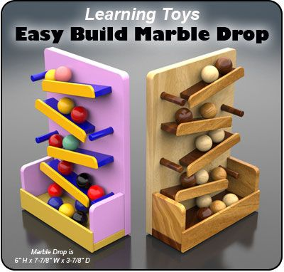 Learning Toys Easy Build Marble Drop Wood Toy Plan Set